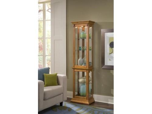 Estate Oak Narrow Curio Cabinet