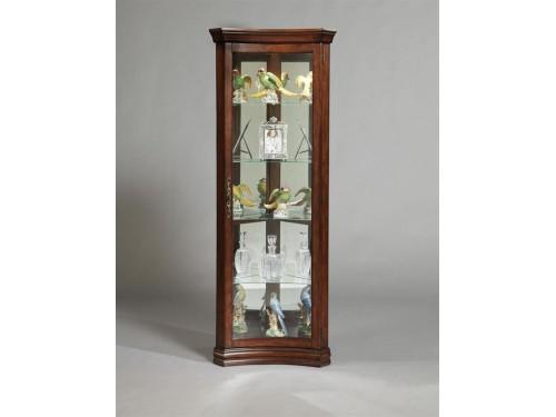 Concave Door Curio Cabinet