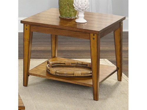 Lake House Square Lamp Table