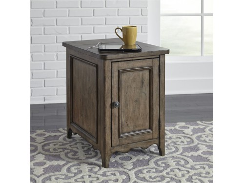 Parisian Marketplace Door Chair Side Table w/ Charging Station