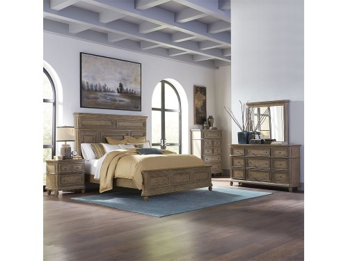 The Laurels Queen Panel Bed, Dresser & Mirror, Chest, Night Stand