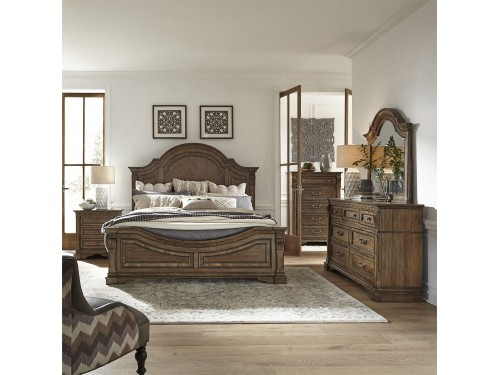 Haven Hall King Panel Bed, Dresser & Mirror, Chest, Night Stand