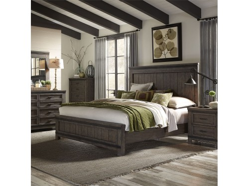 Thornwood Hills King California Panel Bed, Dresser & Mirror, Chest, Night Stand