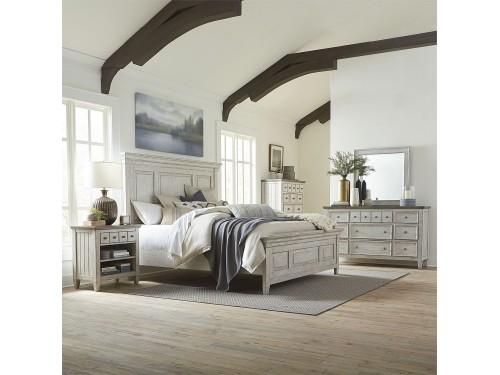 Heartland King California Panel Bed, Dresser & Mirror, Chest, Night Stand