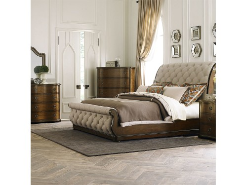 Cotswold King California Sleigh Bed, Dresser & Mirror, Chest, Night Stand