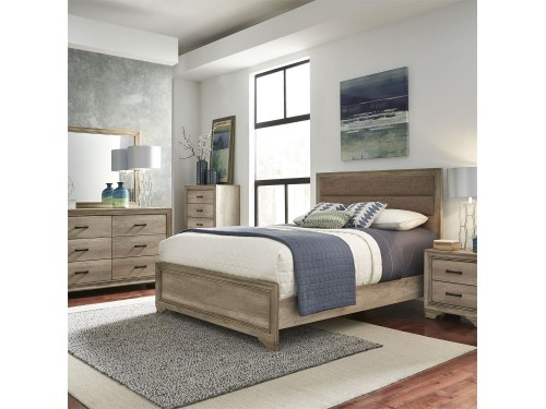 Sun Valley King California Uphosltered Bed, Dresser & Mirror, Chest, Night Stand
