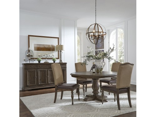 Homestead 5 Piece Pedestal Table Set