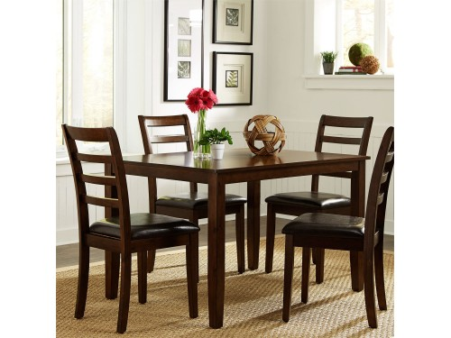 Hampton 5 Piece Rectangular Leg Table Set