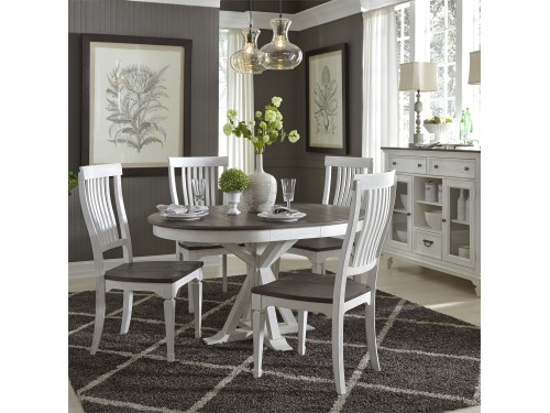Allyson Park 5 Piece Pedestal Table Set