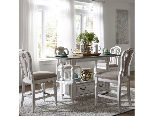 Magnolia Manor 5 Piece Gathering Table Set