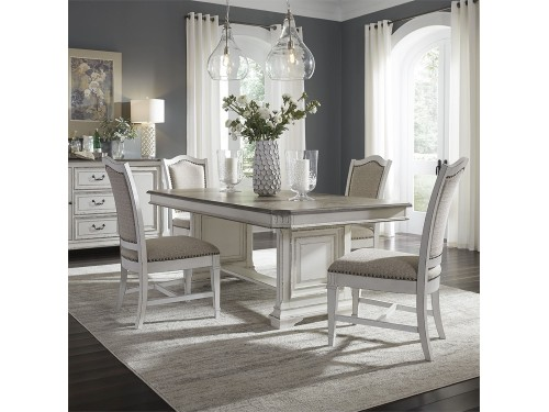 Abbey Park 5 Piece Trestle Table Set