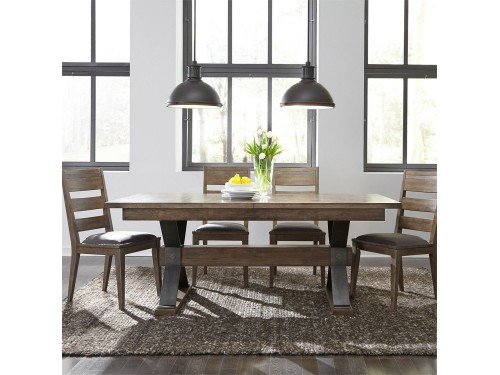 Sonoma Road 5 Piece Trestle Table Set