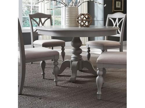 Summer House 5 Piece Pedestal Table Set