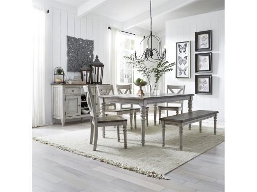 Cottage Lane 6 Piece Rectangular Table Set