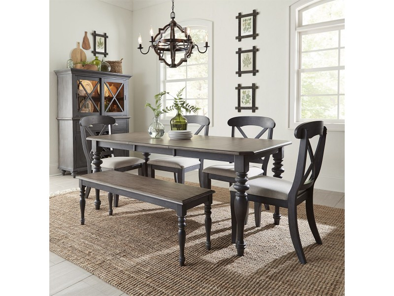 Ocean Isle 6 Piece Rectangular Table Set