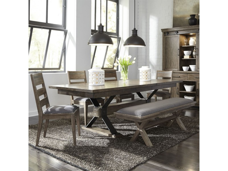 Sonoma Road 6 Piece Trestle Table Set
