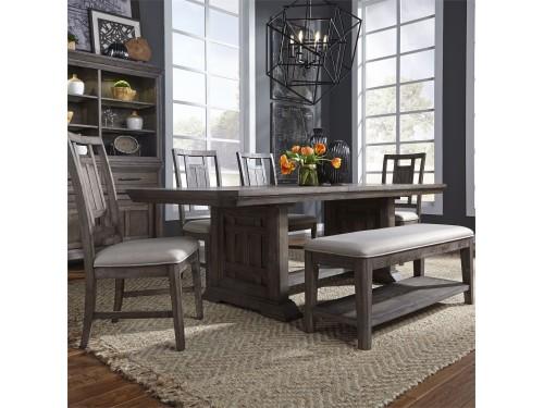 Artisan Prairie 6 Piece Trestle Table Set