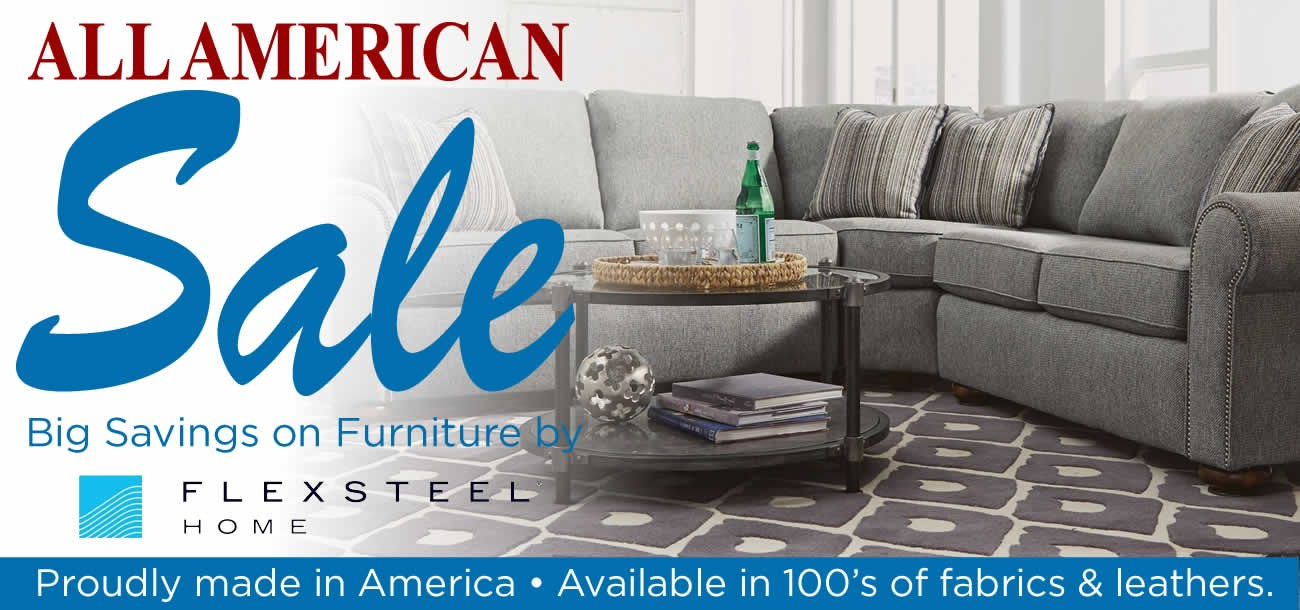 All American Furniture and Mattress Sale featuring furniture by Flexsteel